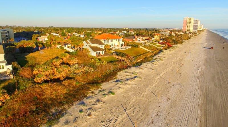 Daytona海滩,佛罗里达鸟瞰图  图库摄影