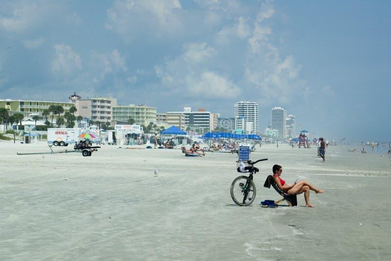 Daytona è la spiaggia fotografie stock