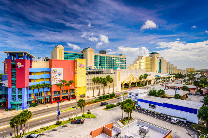 Daytona Beach Cityscape royaltyfri fotografi