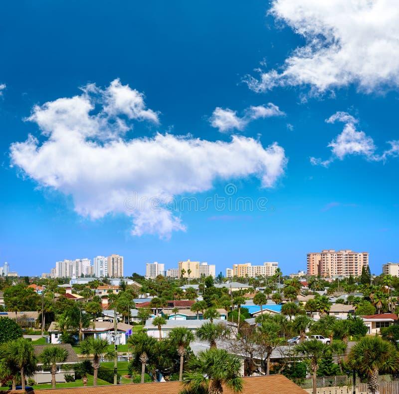 Daytona Beach in de antenne van Florida bij Havensinaasappel royalty-vrije stock fotografie