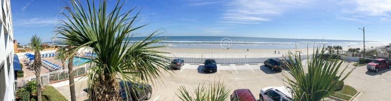 DAYTONA BEACH, FL - FEBRERO DE 2016: Vista panorámica de Daytona Bea foto de archivo libre de regalías