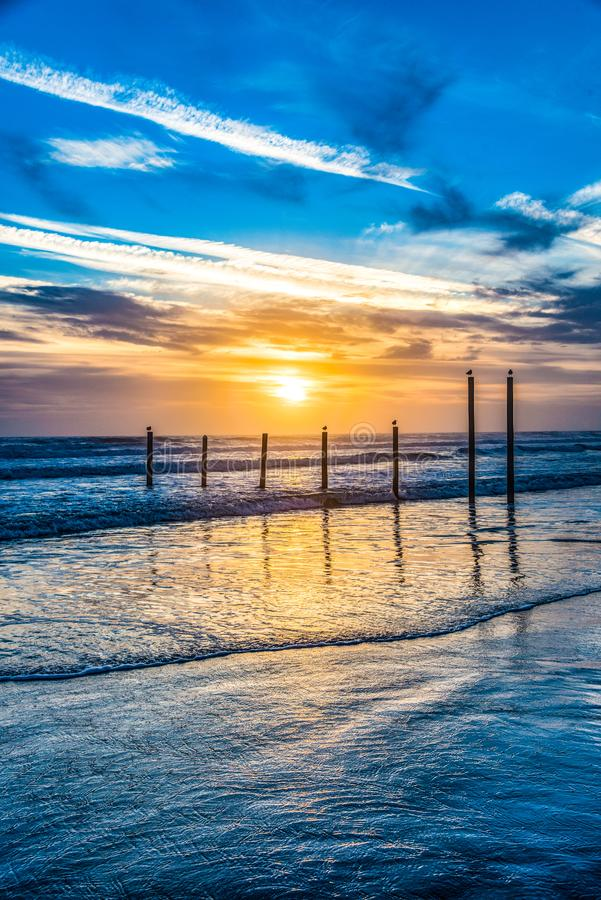 Daytona Beach, Florida, USA bei Sonnenaufgang lizenzfreies stockbild