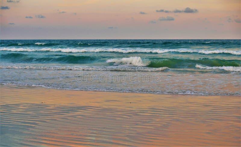 Daytona Beach Pink Sunset Reflections royalty free stock images