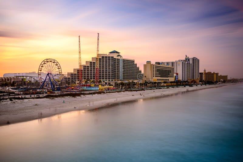 Daytona Beach, skyline de Florida fotografia de stock