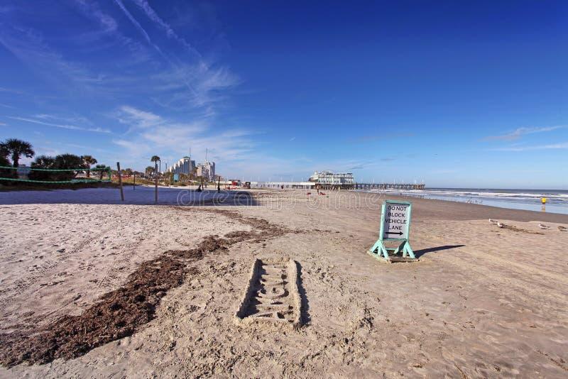 Daytona Beach, skyline de Florida, EUA fotografia de stock