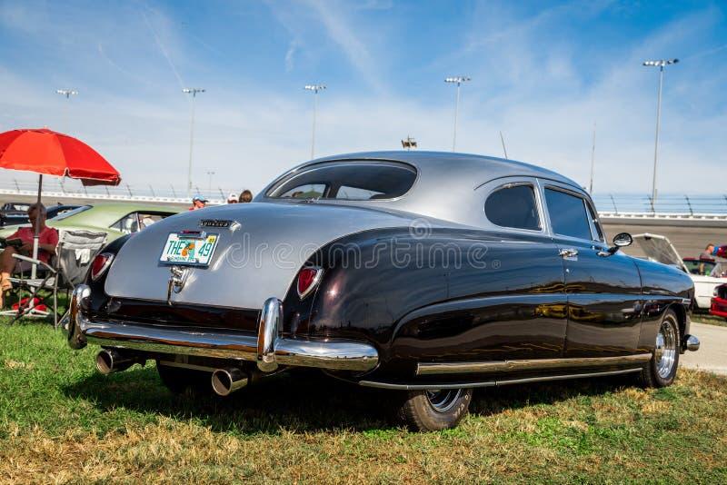 Daytona, Florida / United States - November 24, 2018: 1952 Hudson Hornet Coupe at the Fall 2018 Daytona Turkey Run.  royalty free stock photography