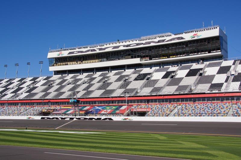 Daytona internationell speedwayåskådarläktare royaltyfria bilder