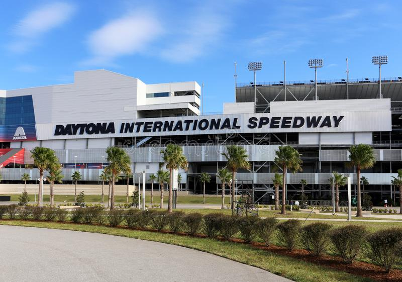 Daytona landskampspeedway arkivbild
