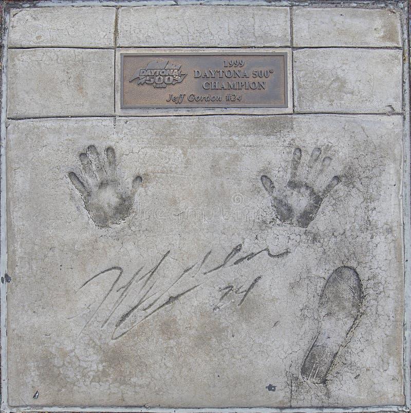 Daytona 500 mistrzów spacer sława, Jeff Gordon obraz stock