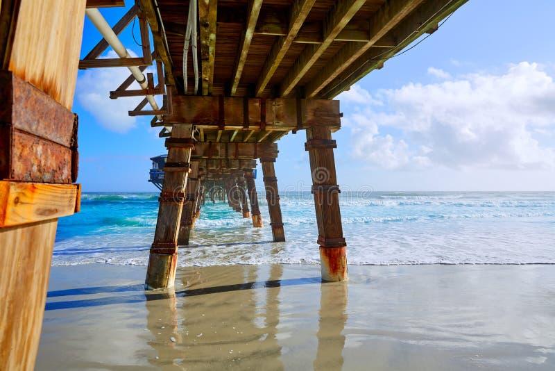 Daytona plaża w Floryda z molo usa obrazy stock