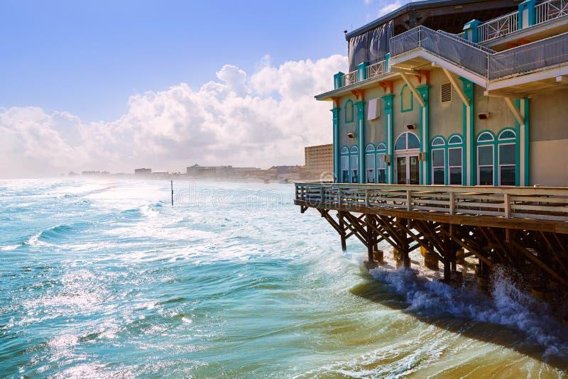 Daytona plaża w Floryda z molo usa zdjęcia royalty free