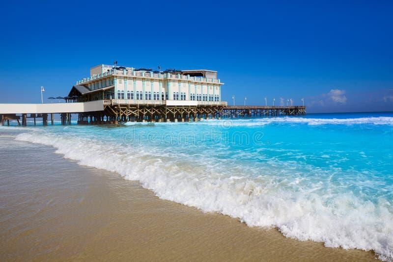 Daytona plaża w Floryda z molo usa zdjęcia stock