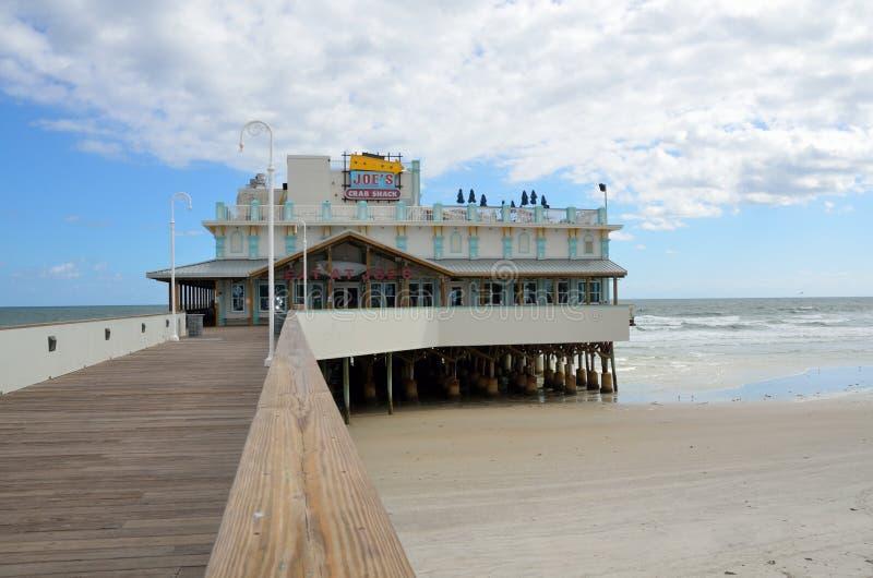 Daytona Plażowy Połowu Molo zdjęcia stock