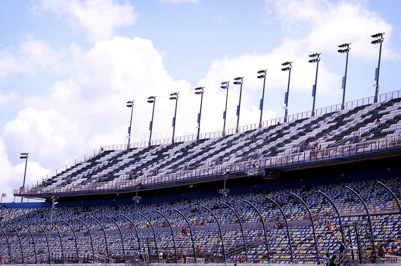 Daytona 500 soportes a cuadros de la pista foto de archivo