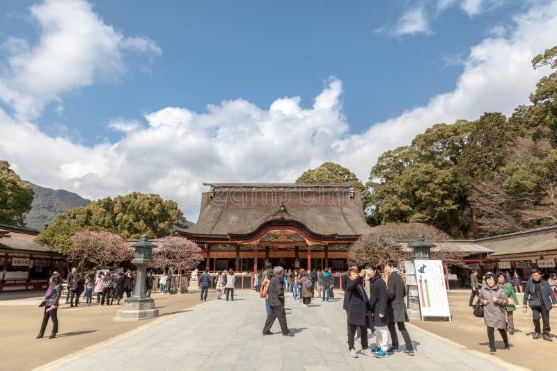 Dazaifu Tenman-gu es una capilla sintoísta en Dazaifu, prefectura de Fukuoka, Japón fotografía de archivo libre de regalías
