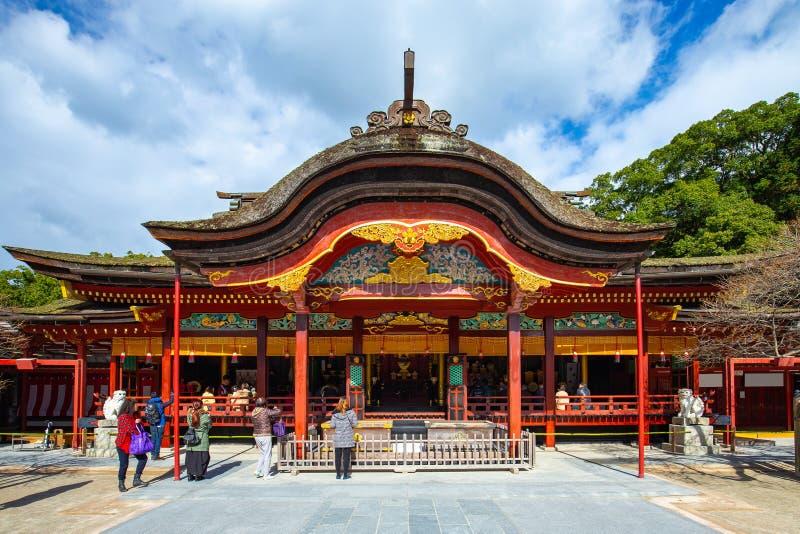 Dazaifu Tenmangu寺庙在Dazaifu,福冈县,日本 库存图片