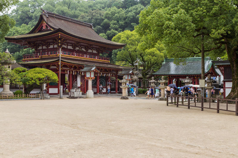 Dazaifu Tenmangu в Fuguoka, Японии стоковые изображения rf