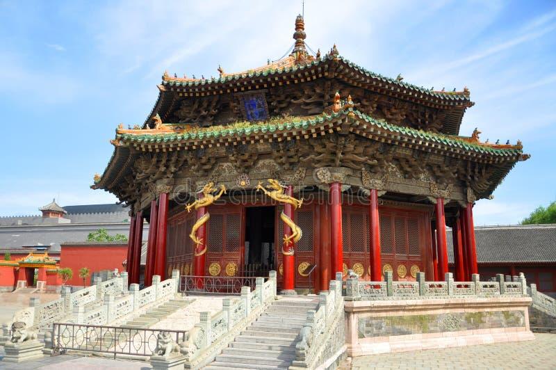 Dazheng Hall, Shenyang imperialistisk slott, Kina arkivfoton