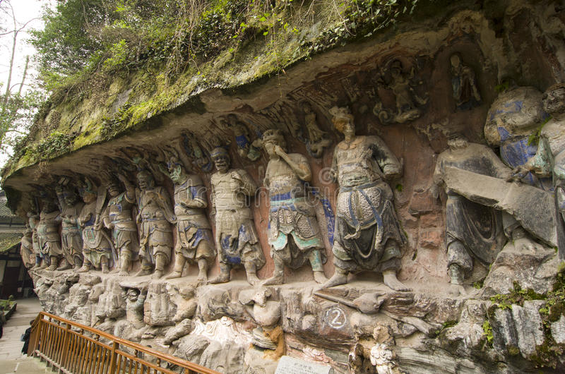 Dazu Bao Ding Mountain Rock Carvings fotografia stock libera da diritti