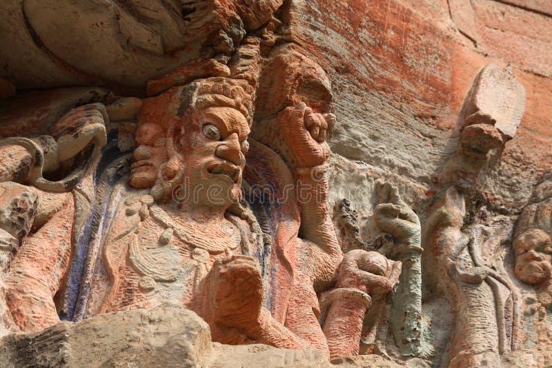 dazu carvings утесистое стоковые изображения rf