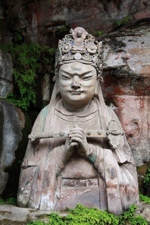 Dazu carvings. Ancient dazu carvings,near Chongqing , China. Original carvings date back to 892 AD stock photos