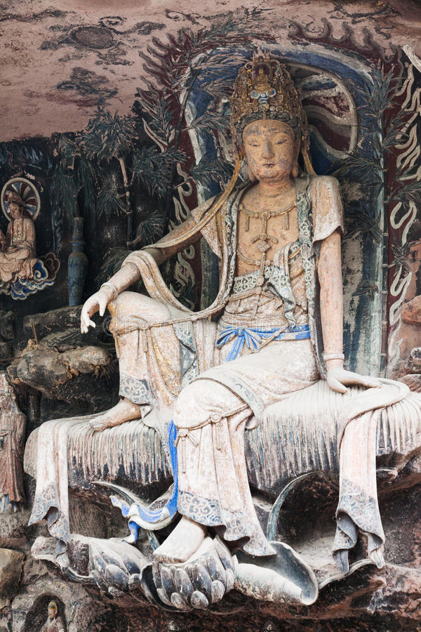 Dazu Rock Carvings(Orient Venus) royalty free stock photography