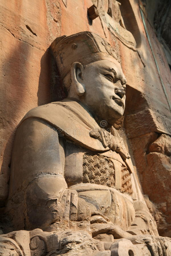 Dazu Rock Carvings. The carving is in Baodingshan rock carvings, important part of Dazu rock carvings. It was made in Song dynastic and in the list of world stock images