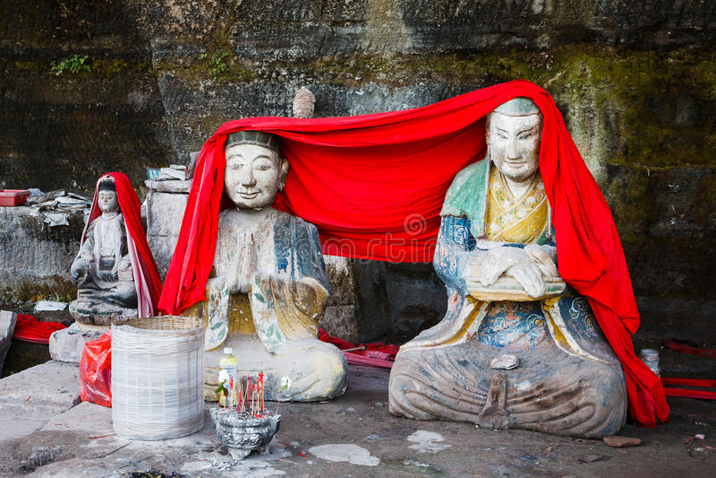 Dazu Rock Carvings royalty free stock images
