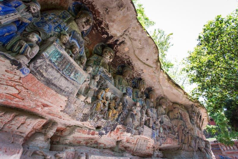 Dazu Rock Carvings royalty free stock photos