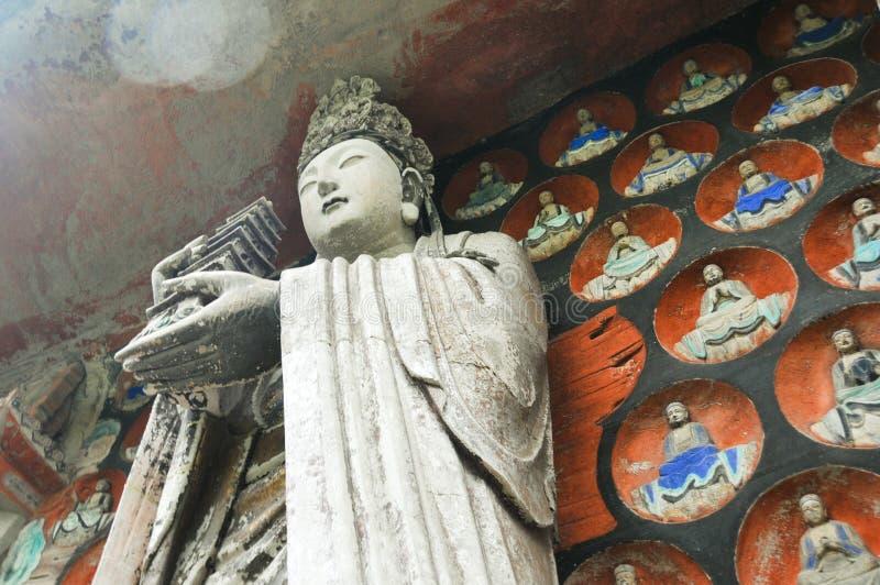 Dazu Rock Carvings stock images