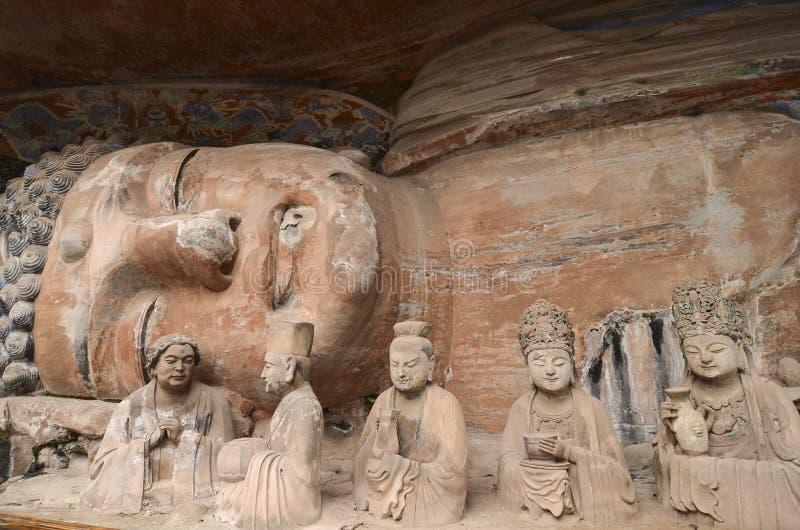 Download Dazu Rock Carvings stock image. Image of historic, carving - 36614663