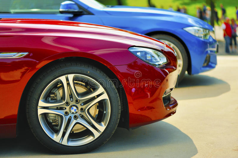 Dazzling Colors of BMW royalty free stock photos