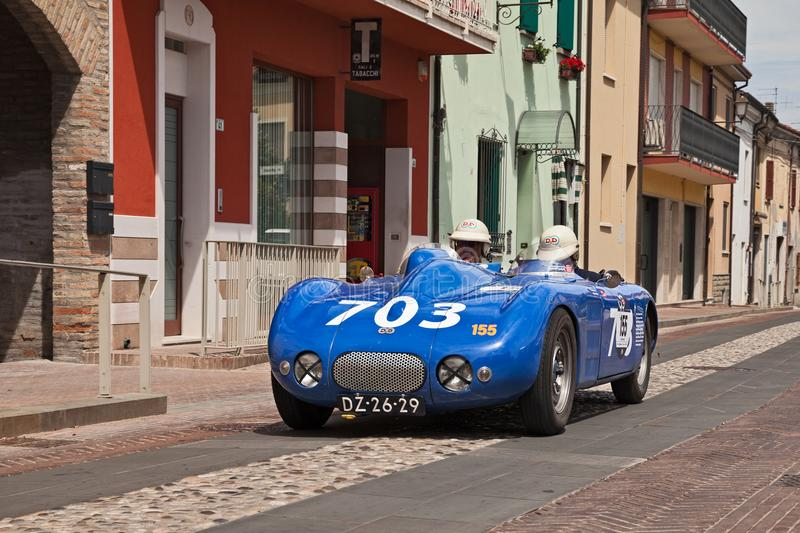 DB Citroen Spider 1945 in Mille Miglia 2017. French racing car DB Citroen Spider 1945 in historical classic car race Mille Miglia, on May 19, 2017 in Gatteo, FC stock photos