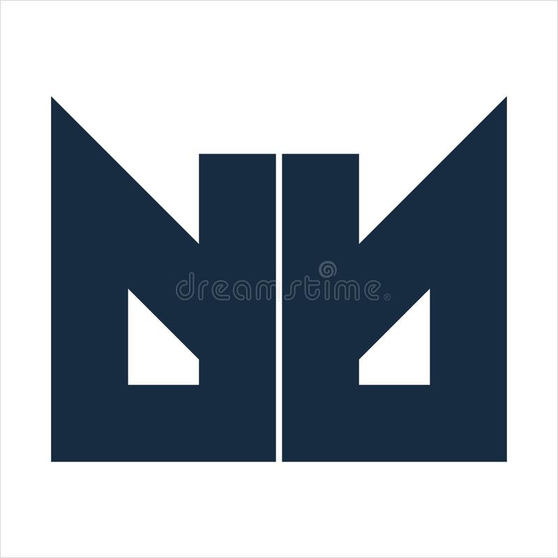 DB, dd, dmb dmd γεωμετρικό λογότυπο επιχείρησης επιστολών αρχικών στοκ εικόνα με δικαίωμα ελεύθερης χρήσης