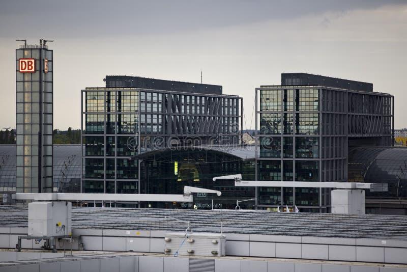 Hauptbahnhof в Берлине стоковая фотография rf