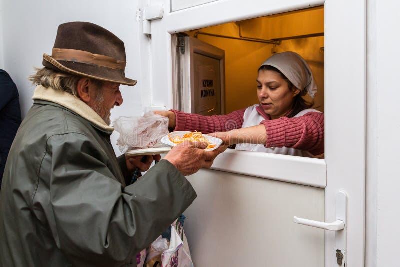 Dba dla bezdomny w Ukraina i biedy obraz royalty free