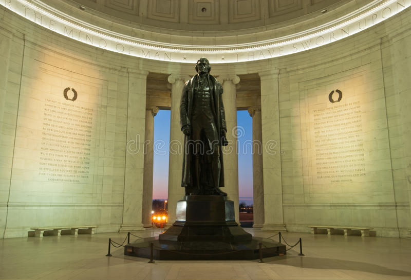 dc内部杰斐逊纪念碑托马斯・华盛顿 免版税库存图片