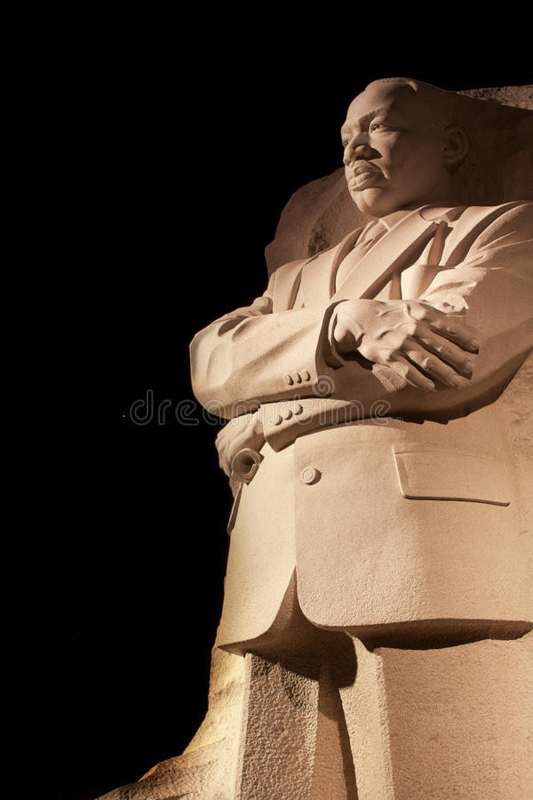 dc国王luther马丁纪念晚上华盛顿 库存图片