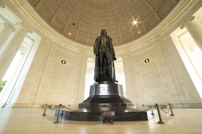 dc杰斐逊纪念托马斯・华盛顿 免版税库存照片