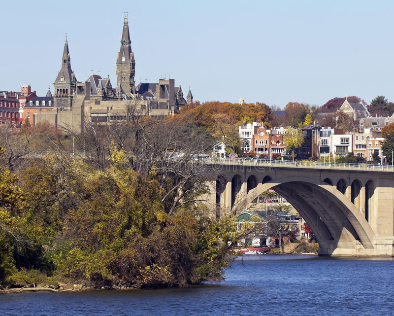 DC Вашингтона, взгляд от Джорджтауна стоковые фото