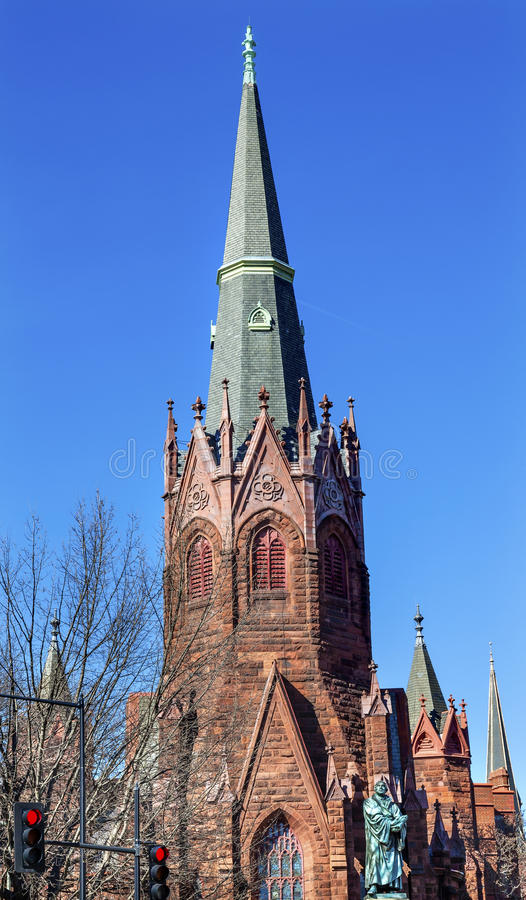DC Вашингтона круга Томаса церков лютеранина статуи Мартина Luther стоковые фотографии rf