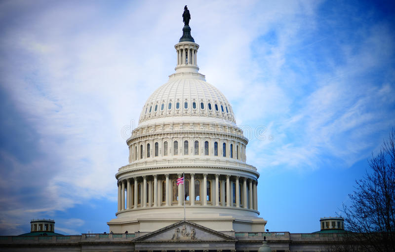 DC Вашингтона, Соединенные Штаты 2-ое февраля 2017 - конгресс США b стоковое изображение