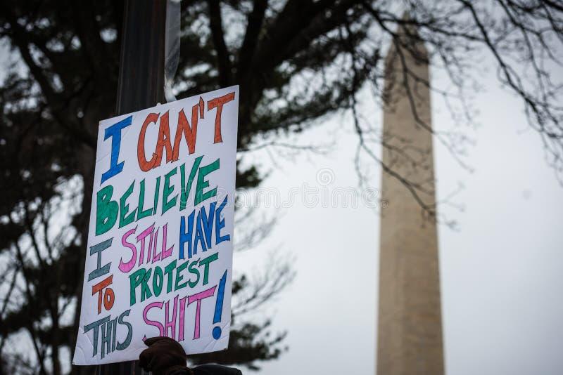 DC в марте - Вашингтоне женщин стоковое изображение