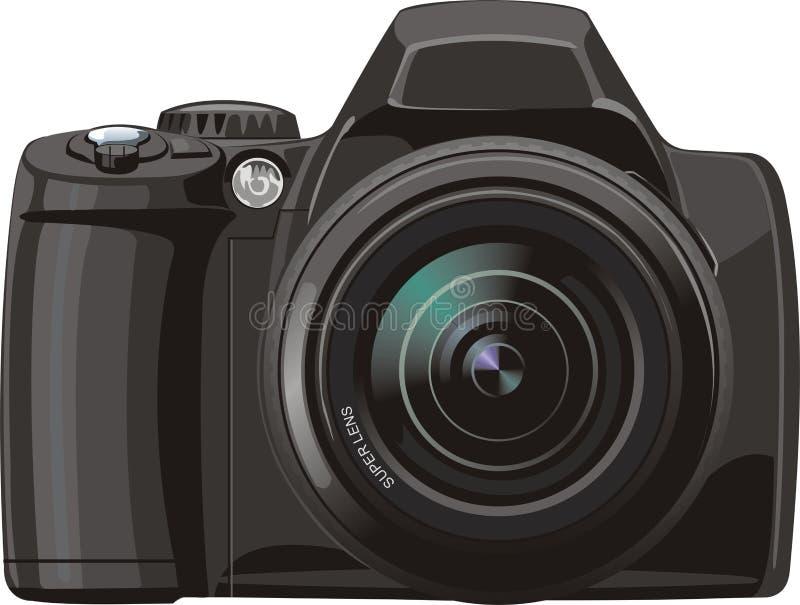 Dc. Modern professional digital photo camera royalty free illustration
