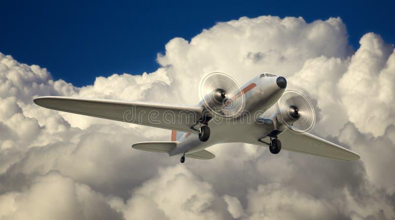 DC-3 au-dessus de NYC illustration de vecteur