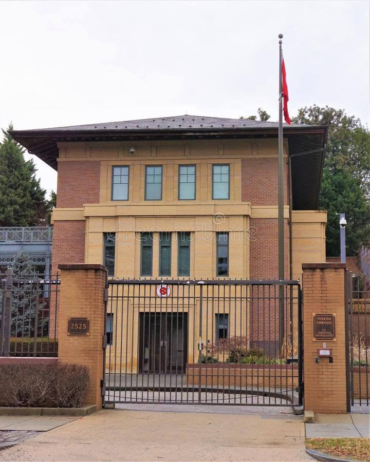 dc ambasady turkish Washington obrazy royalty free