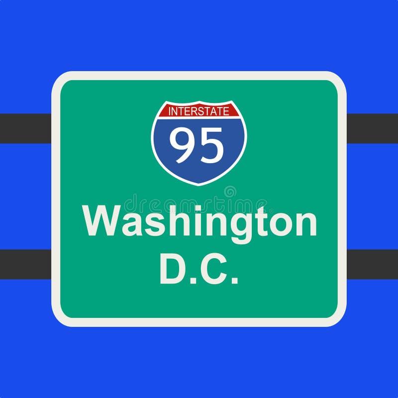 dc autostrady znak Washington ilustracji