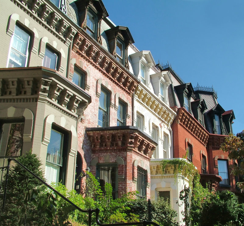 DC Brownstones royalty free stock images