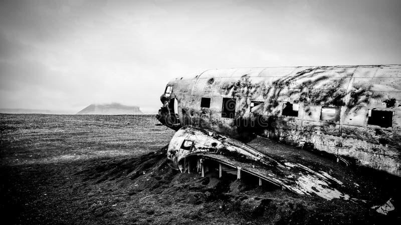 DC3 crash site royalty free stock photo