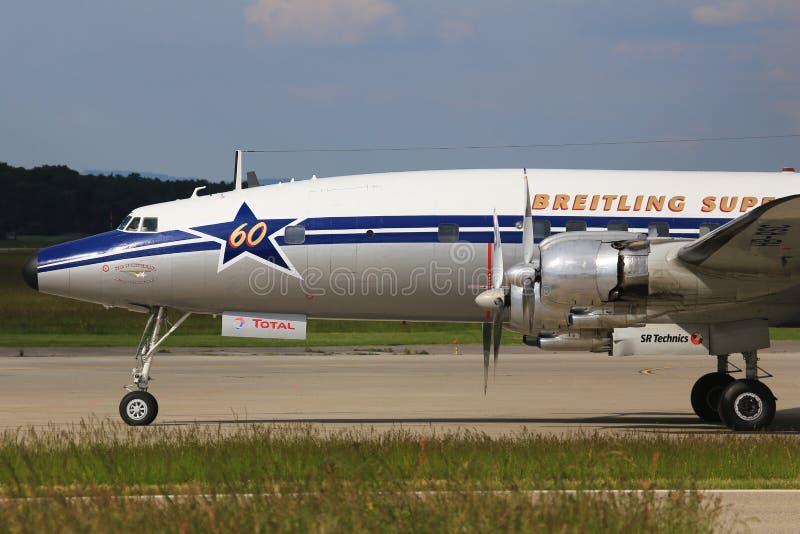 DC-6 Dakota od Breitling fotografia royalty free